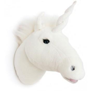 cabeza peluche unicornio