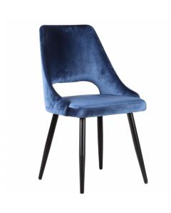 Silla comedor blue velvet