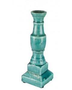 Candelabro terracota azul